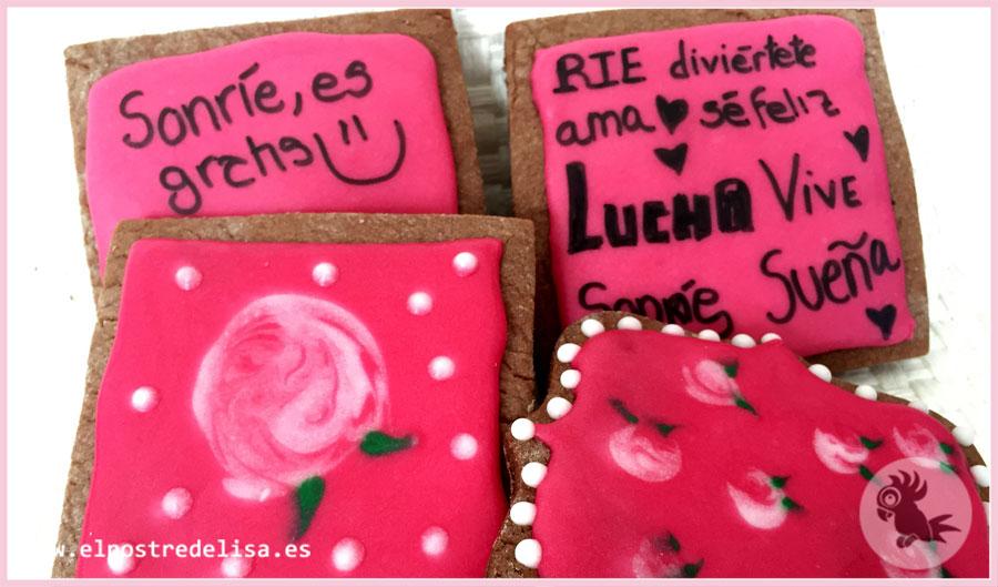 Galletas Decoradas Rosas El Postre De Lisa