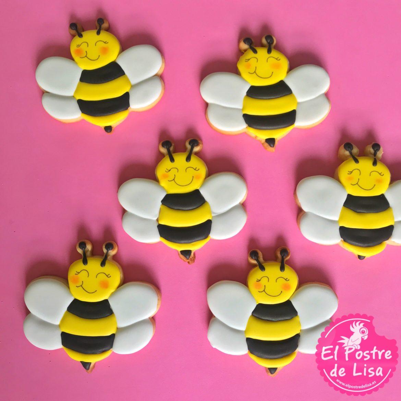 Galletas de abejas y tarros de miel