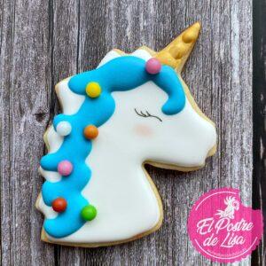 Galletas Decoradas Unicornio Azul