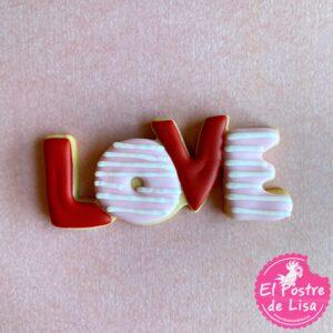 Galletas decoradas  LOVE