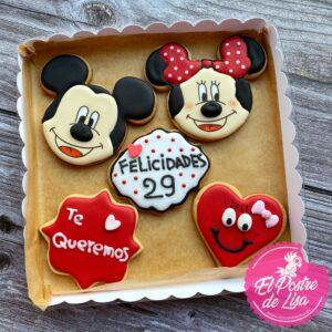 Galletas decoradas Mickey y Minnie Mouse